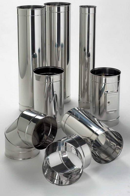 Одноконтурные дымоходные трубы из легированной стали