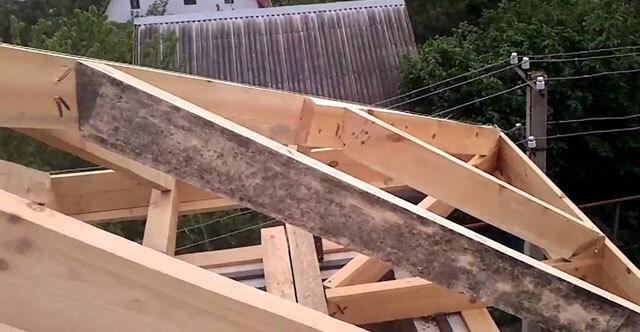 как построить вальмовую крышу своими руками