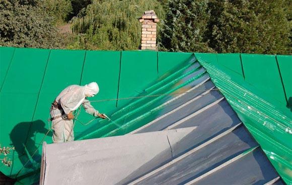 окраска оцинкованной крыши