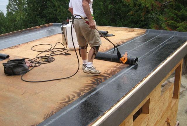 гидроизоляция плоской крыши дома