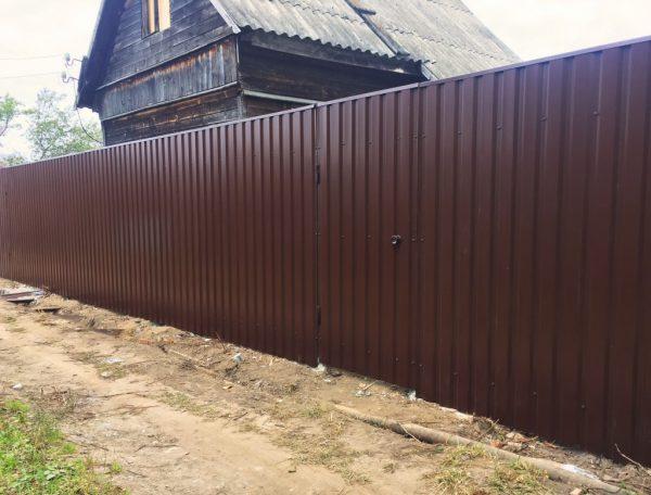 Забор из профиля С8