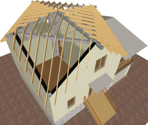Проект дома с шестигранной купольной крышей