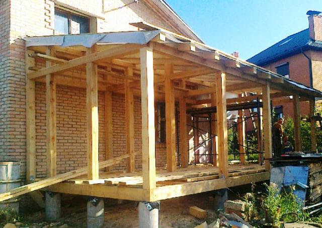 проект сарая с односкатной крышей