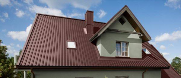 Крыша из несущего профнастила
