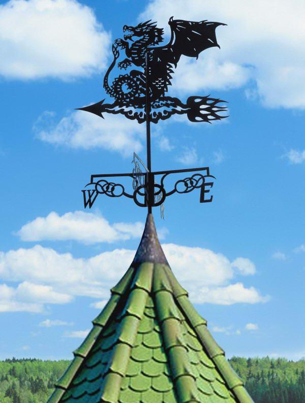Декоративный ветряк в виде дракона