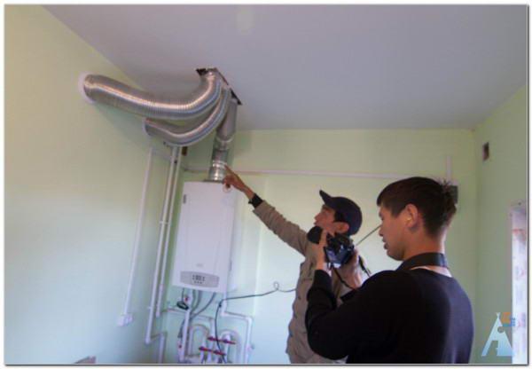 Гибкий дымоход для газовой колонки