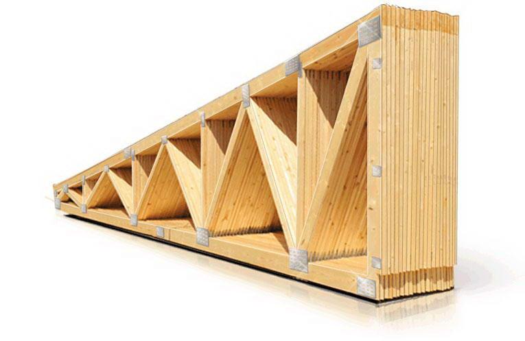 Висячая стропильная система односкатной крыши