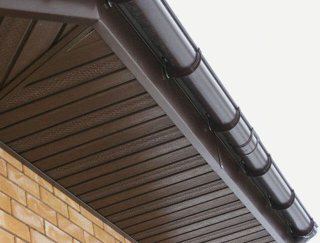 обшивка под крышей