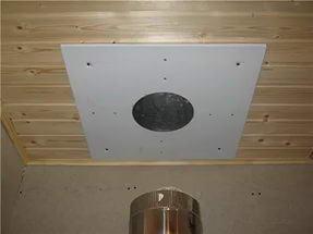 Оборудование места прохода трубы через потолок