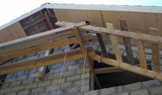 подшивка фронтонного свеса крыши