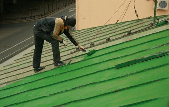 краска для оцинкованных крыш