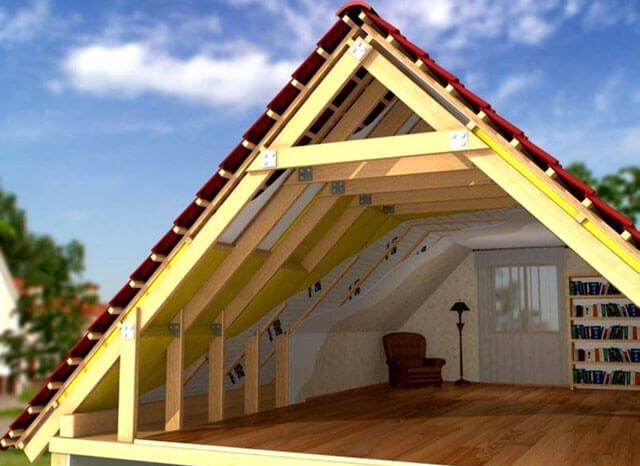 как рассчитать фронтон крыши