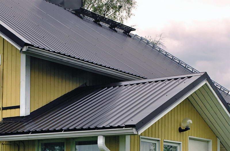 Крыша из профнастила марки С-10