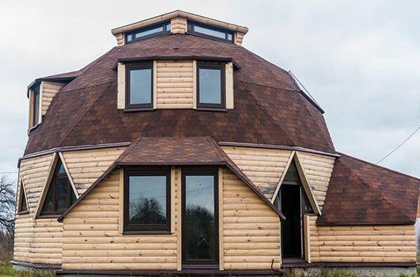 дома с круглой крышей