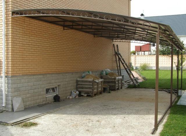как правильно сделать крышу навеса