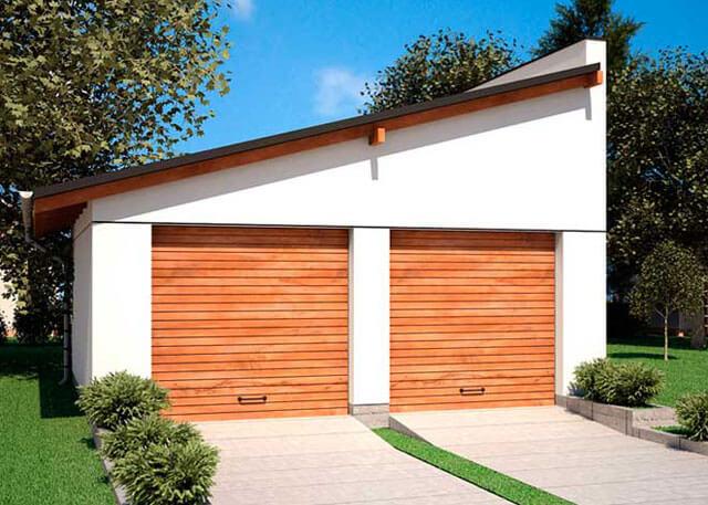 стропильная система односкатной крыши гаража