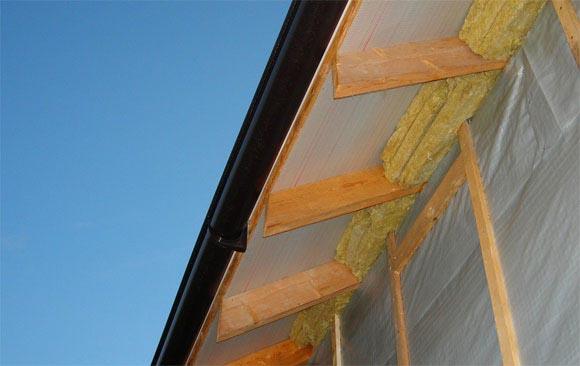 подшив карниза крыши