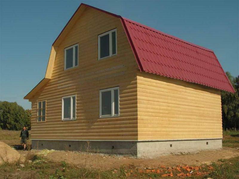 Мансардная крыша с ломанными скатами