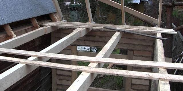 строительство сарая с односкатной крышей