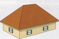 четырехскатная вальмовая крыша