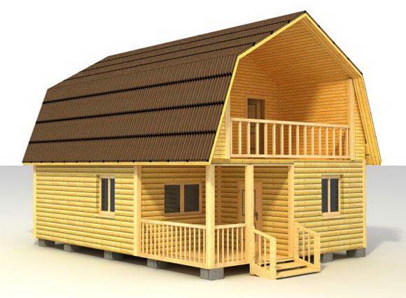Проект дома с ломаной крышей