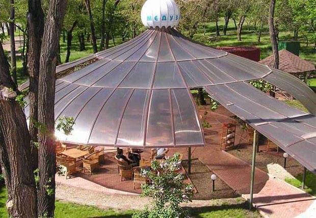 крыша дома из поликарбоната