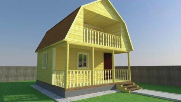 Деревянный дом из профилированного бруса (проект ПД-010)