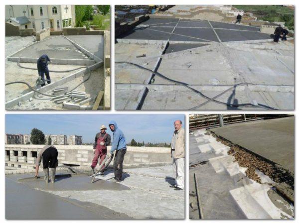 Для стяжки небольшой толщины применяется цементопесчаный состав, в то время как более толстые стяжки делаются из керамзитобетона