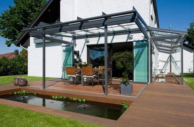деревянный навес с односкатной крышей
