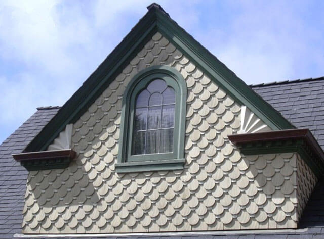 крыша с двумя фронтонами