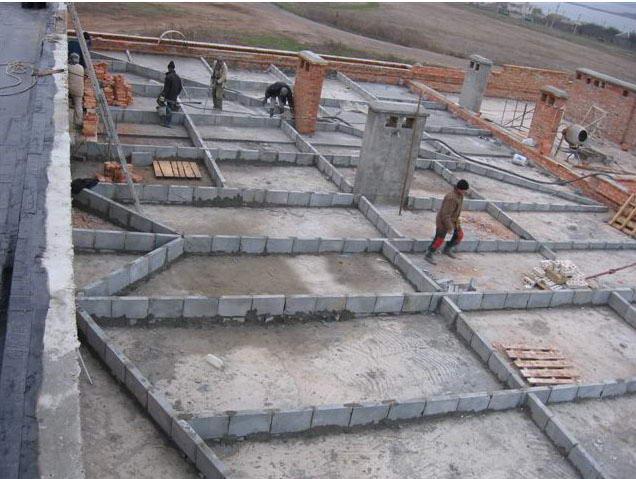 Разуклонка бетоном