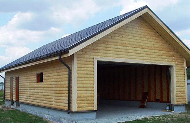 двускатная крыша на гараж