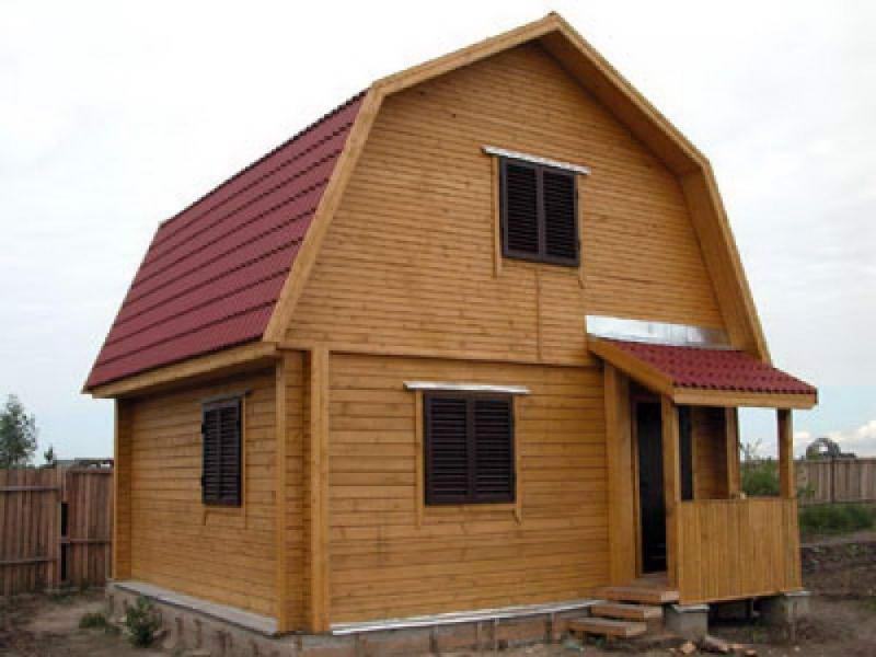 ломаная двухскатная крыша