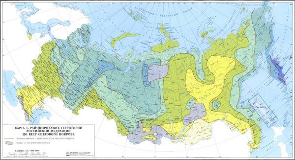 Фото карты снегового покрова России.