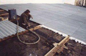 как отремонтировать шиферную крышу