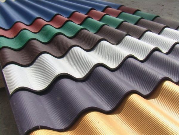 Краска для шифера крыши может иметь разные цвета