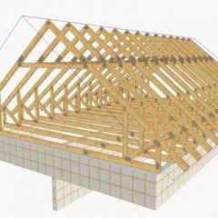 мансардная двухскатная крыша