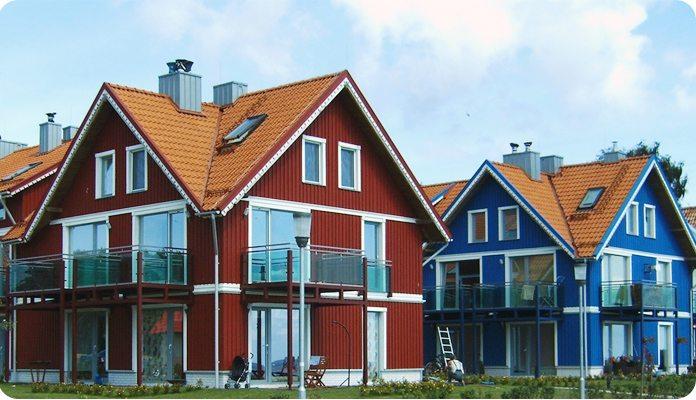 многощипцовая крыша над квадратным домом