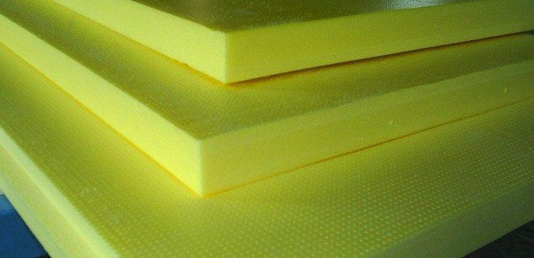Пенополистирольная плита бывает разной толщины.