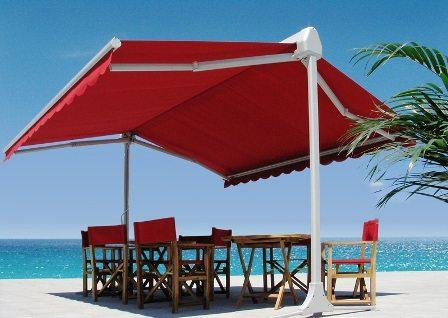 Пляжный навес-маркиза сделает ваш отдых не таким горячим.