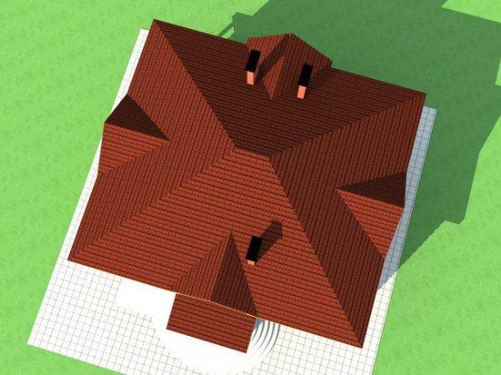 расчет площади четырехскатной крыши