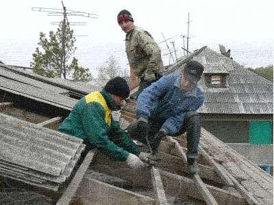 ремонт кровли на даче
