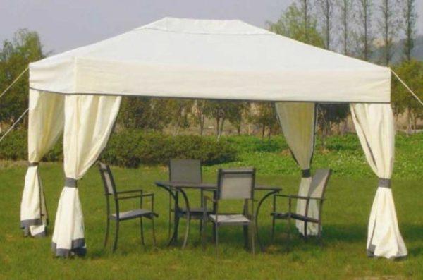 Сборный шатер – прекрасный вариант для редких визитов.