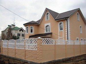 сочетание цветов крыши и дома