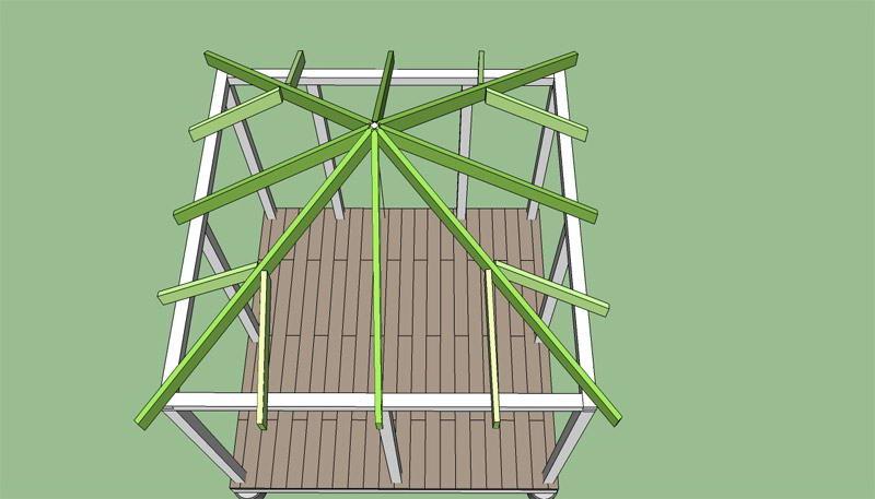 Стропильная система шатровой четырехскатной крыши