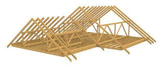 стропильная система двухскатной крыши видео