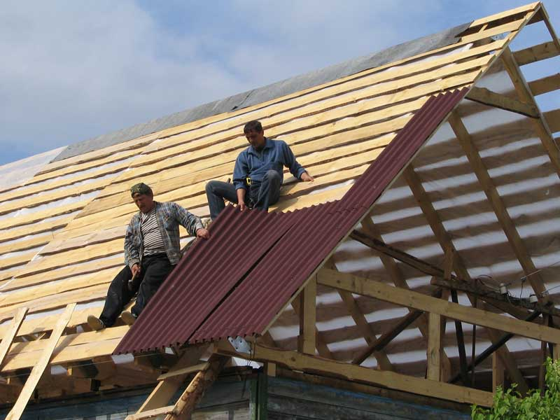 технология покрытия крыши ондулином