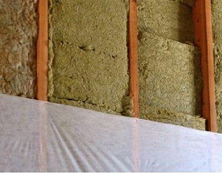 Утепление стен изнутри минватой необходимо выполнять с использованием пароизоляционной пленки