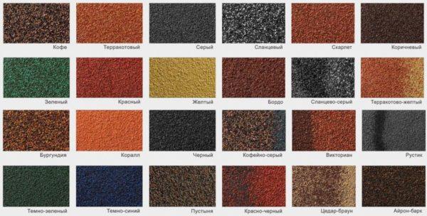 Вариантов минерального покрытия очень много