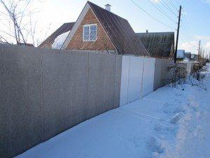 забор из шифера плоского